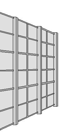 support de mur végétal en acier galvanisé à l'extérieur
